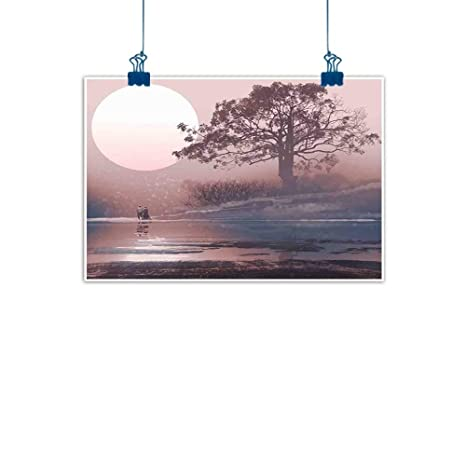 Amazon Com Sunset Glow Canvas Wall Art Fantasy Love Couple