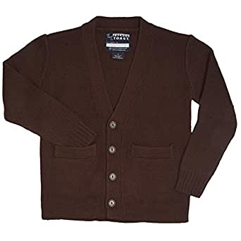 French Toast French Toast School Uniforms Anti-Pill V-Neck Cardigan Sweater Boys Brown 18 Boys Brown 18