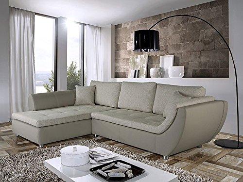 Wohnlandschaft Avery 287x196cm Beige Couch Sofa Ecksofa Polsterecke