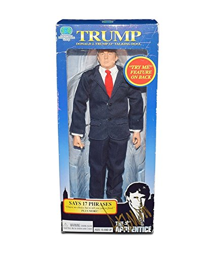 AUTOGRAPHED President Donald J. Trump 2004 THE APPRENTICE 12 INCH TALKING DOLL (Says 17 Phrases) Vintage Signed Collectible SEG Toys Action Figure With Box & COA