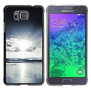 PC/Aluminum Funda Carcasa protectora para Samsung GALAXY ALPHA G850 Sea Ocean View Light Bright Sun Cloud Sky / JUSTGO PHONE PROTECTOR
