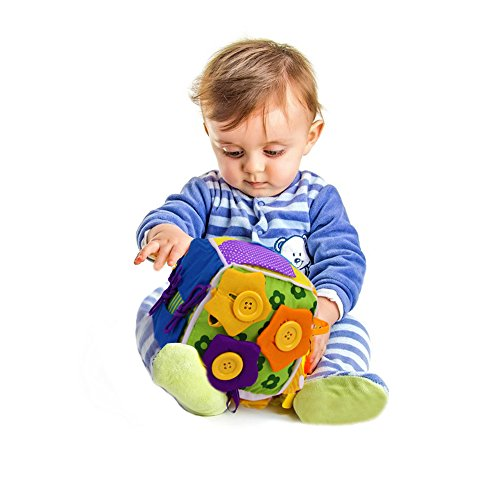 [Explore Discover Soft Cloth Busy Toys Box Dressing Educational Learning Toy] (Animals That Starts With Letter E)