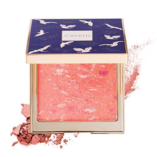 CATKIN Makeup Powder Blush Cheek Color Coral Pink Peach High Definition Natural Blusher C02
