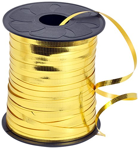 HIART Curling Ribbon, 3/16-Inch x 500-Yard, Metallic Gold