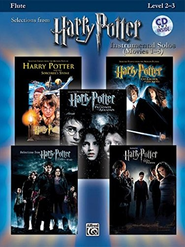 Movie Instrumental Solos Flute - Harry Potter Instrumental Solos (Movies 1-5): Flute, Book & CD (Pop Instrumental Solos Series)