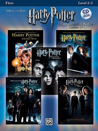 Harry Potter Instrumental Solos (Movies 1-5): Flute, Book & CD (Pop Instrumental Solos Series)