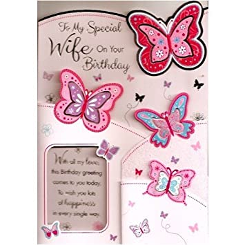 Happy Birthday Wife Card To My Special Wife On Your Birthday