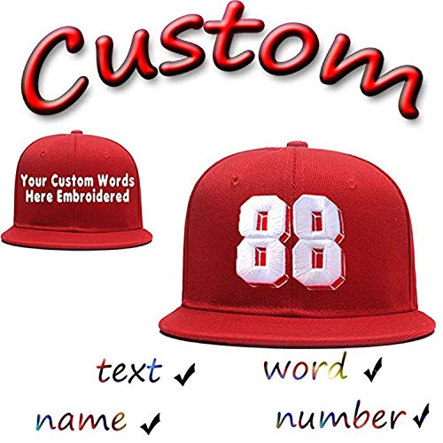 (Funny Baseball Hats Unisex Cotton Hip Hop Flat Brim Snapback Hats Custom Embroidered Caps)