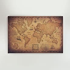 Amazon world travel map pin board modern slate handmade world travel map pin board golden aged gumiabroncs Gallery