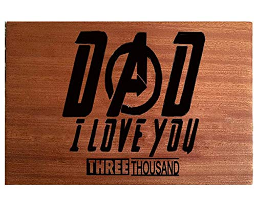 Father's Gift - Dad I Love You Three Thousands Sapele Cutting Board Dad Birthday Christmas Gift Engraved Side For Décor Best for Meat/Vegetables and Fruits - 9 x 6 inches
