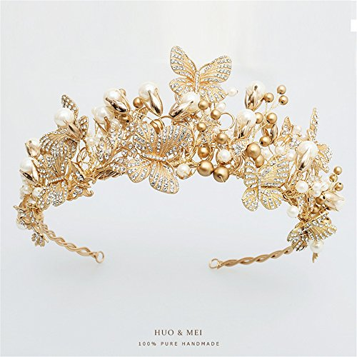 Bridal Crown Hair Accessories Alloy Headdress Rhinestones Handmade Wedding Accessories by Little Less