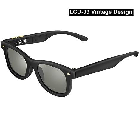 Yangjing-hl Gafas de Sol oscuras Ajustables electrónicas LCD ...