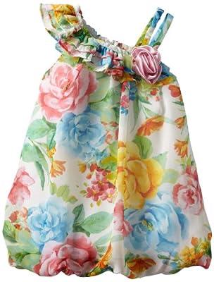 Bonnie Baby Girls Infant One Shoulder Chiffon Bubble Dress by Bonnie Baby