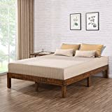Olee Sleep VC14SF01F 14 Inch Solid Wood Platform Bed/Natural Finish, Full, Brown