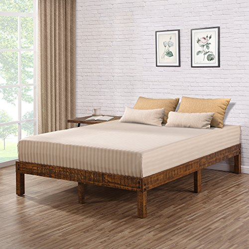 Olee Sleep VC14SF01F 14 Inch Solid Wood Platform Bed/Natural Finish, Full, ()