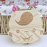 Creative Baby Teeth Box Saver Storage Box Wooden Children Teeth Holder Organize Box boy Wood