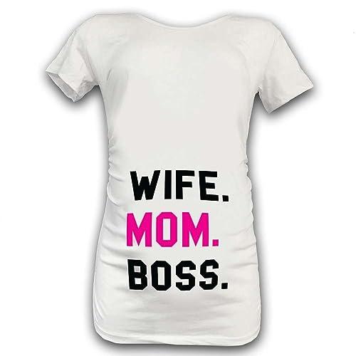 "T Shirt Maglia Premaman ""Wife Mom Boss"""