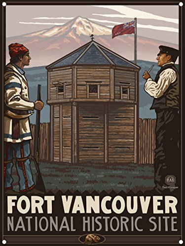 Fort Vancouver National Historic Site Trappers Vancouver Washington Metal Art Print by Paul A. Lanquist (9