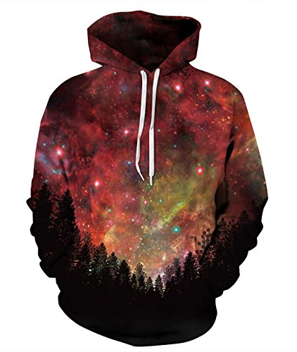 FEOYA Unisex Galaxy Graphic Hoodies Casual Patterned for sale  Delivered anywhere in Canada
