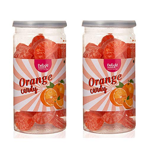 Delight Foods Hard Boiled Flavoured Candies – Orange Flavor – 300G (150G X 2)
