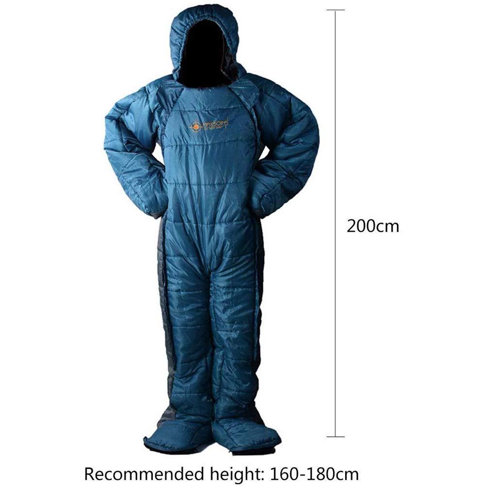 GYLL Mummy Sleeping Bag Humanoid Sleeping Bag Walkable Sleeping Bag to Keep Warm Outdoor Camping Waterproof Easy to Carry-M