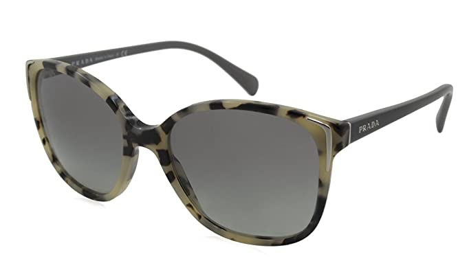 4e67ae62d84 PRADA PR 01OS Sunglasses KAD3M1 White Havana 55-17-140  Amazon.co.uk   Clothing