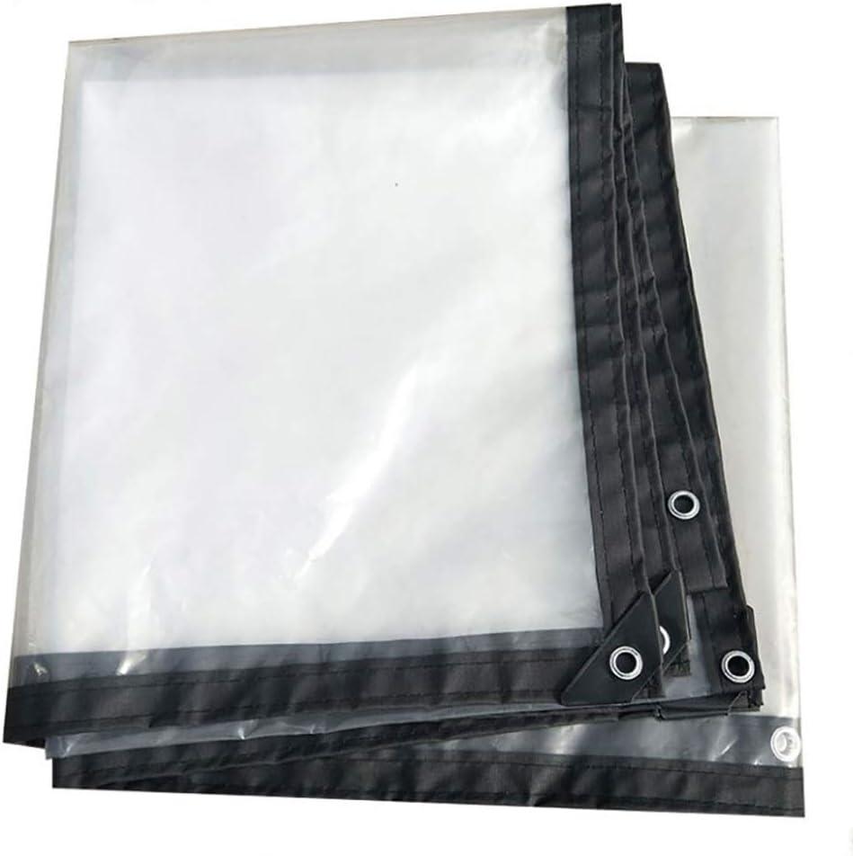 YU-BY Lámina de Lona Transparente Plástico Impermeable Polietileno a Prueba de Agua con Ojales Cubierta de Piscina No tóxico para jardín, Transparente, múltiples tamaños,4×8m