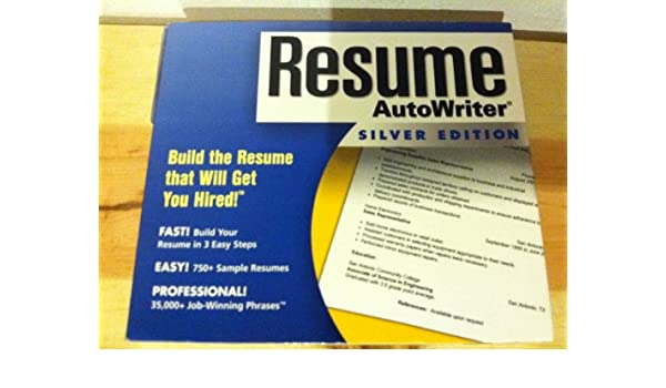 Amazon Com Resume Auto Writer Silver Edition By Nova
