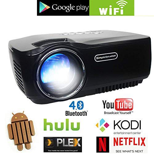 Array - android wifi led projectorportable multimedia 1200 lumens home theater cinema ps xbox game mini wireless wifi projector support full hd 1080p video      rh   amazon com