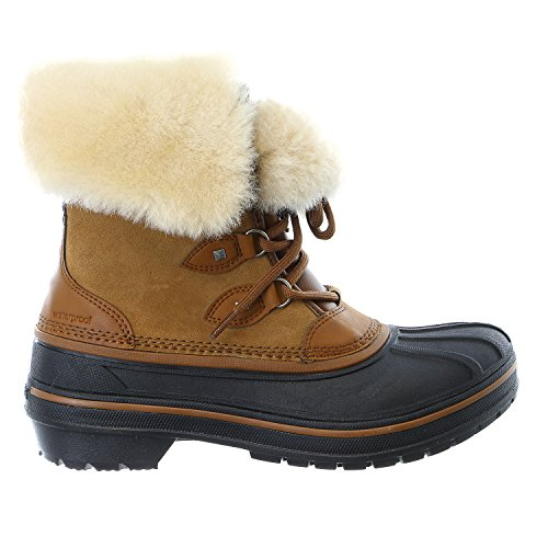crocs Women's AllCast II Luxe Wheat Snow Boot, Wheat, 8 M US