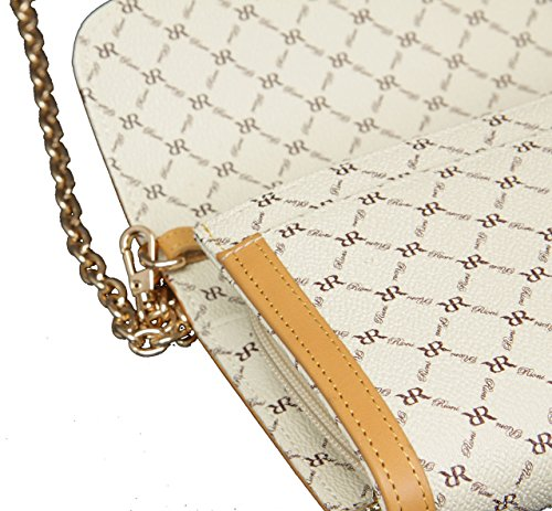 with Shoulder Strap Removable Signature Clutch Wallet Rioni NATURAL PVC wYqTAIxR