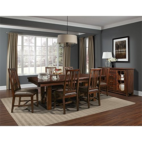 A-America Mesa Rustica 8 Piece Extendable Dining Set in Mahogany
