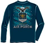 US Air Force Long Sleeve T-Shirts, 100% Cotton Casual Men's Shirts, Show Your Pride With Our US Air Force Full Print Eagle Long Sleeve Shirts for Men or Women (XX-Large)