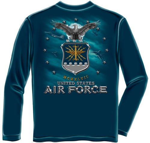 US Air Force Long Sleeve T-Shirts, 100% Cotton