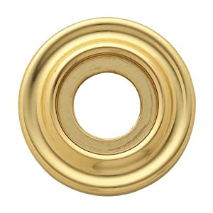 Baldwin 5002.IDM Single Estate Rosette for Dummy Functions, Polished Brass