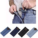 WensLTD 1 Piece Unisex Waist Extender with Metal Button for Pants, Jeans, Trousers and Skirt (A)