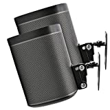 2 x SONOS Play 1 Wall Mount, Twin Pack, (NOT Compatible with SONOS ONE) Adjustable Swivel & Tilt Mechanism, 2 Brackets for Play:1 Speaker with Mounting Accessories, Black