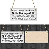 creative home decorations RIBITENS Creative Practical Letter Print Hanging Home Decoration Warning Doorplate Statues Wooden Hanging Decors