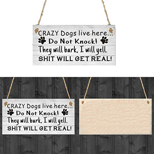 RIBITENS Creative Practical Letter Print Hanging Home Decoration Warning Doorplate Statues Wooden Hanging Decors