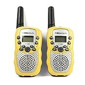 Changeshopping 2pcs Portable Wireless Walkie-talkie Set Eight Channel 2 Way Radio Intercom 5KM Travel (Yellow)