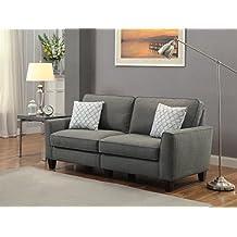 Serta at Home CR46238P RTA Everett Collection, 78-Inch Fabric Sofa, Alexandria Grey