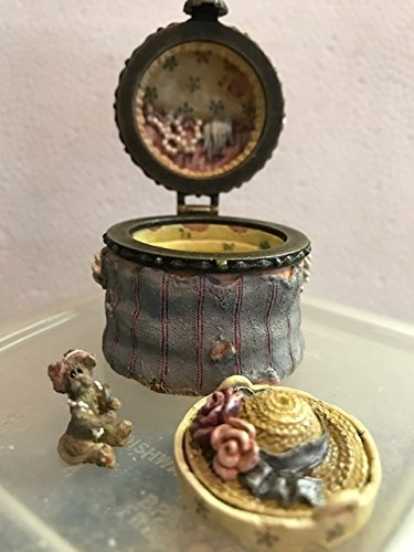 Boyd's Chanel's Hat Box with Narcissus McNibble treasure box (Boyds Bear Treasure Box)