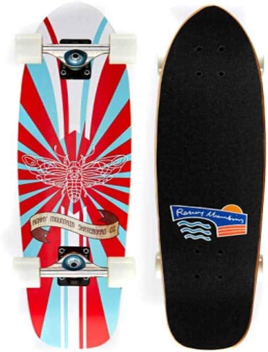 スケートボード、プロのフィッシュボードスケートボード、メープルウッド品質の四輪スケートボード、大人のティーン初心者のスケートボード、ロードブラシストリート旅行に適しています Multi-colo赤 73*20cm-4