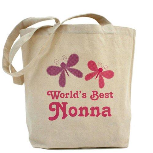 CafePress–nonna (del mondo migliore)–Borsa di tela naturale, panno borsa per la spesa