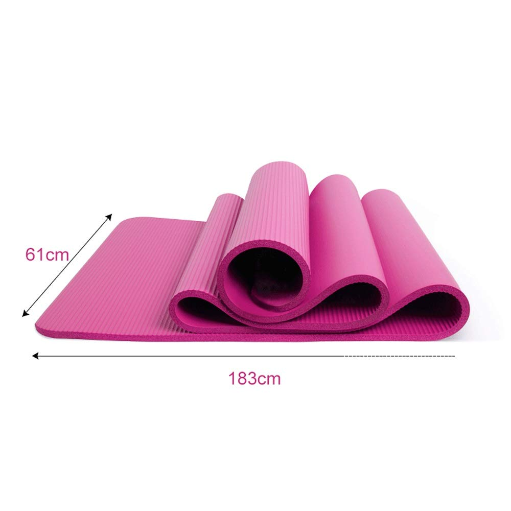 XUMINGYJD Fitness Yoga Mat Beginner Female Dance Mat Sports Fitness Mat Thicken 10mm Widened Lengthened 18361cm Outdoor Equipment Pilates (Color : Pink, Size : 10mm)