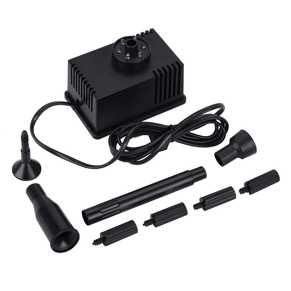 Submersible Water Pump Fountain Free Standing Floating Pump with LED Light for Aquarium Fish Tank Pond Garden Bird Bath(US Plug)