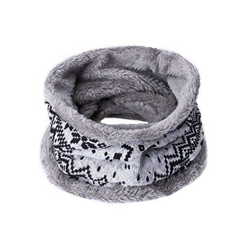 EVRFELAN Infinity Scarf Winter Women Circle Loop Scarves Warm Kids Neck Warmer Chunky Knit Soft Thick Fashion Ladies Accessories Ribbed Girls Men Boy Collar (Everything Halloween White Plains)