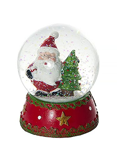 Immagini Palle Di Natale.Palle Di Vetro Globo Di Neve Di Natale Sfera Di Vetro Con Neve Decorativa Di Babbo Natale