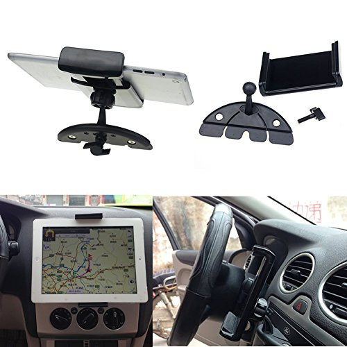 NNDA CO Universal Tablet Car CD Slot Holder Mount Stand For iPad 2 3 4 5 Air Galaxy Tab View Pictures Cd