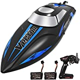Remote-Control-Boat for Pools & Lakes,Udi001 Venom Fast RC Boat for Kids & Adults,Self Righting Remote Controlled Boat W/Extra Battery